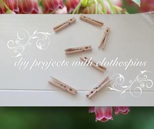 DIY With Clothespins