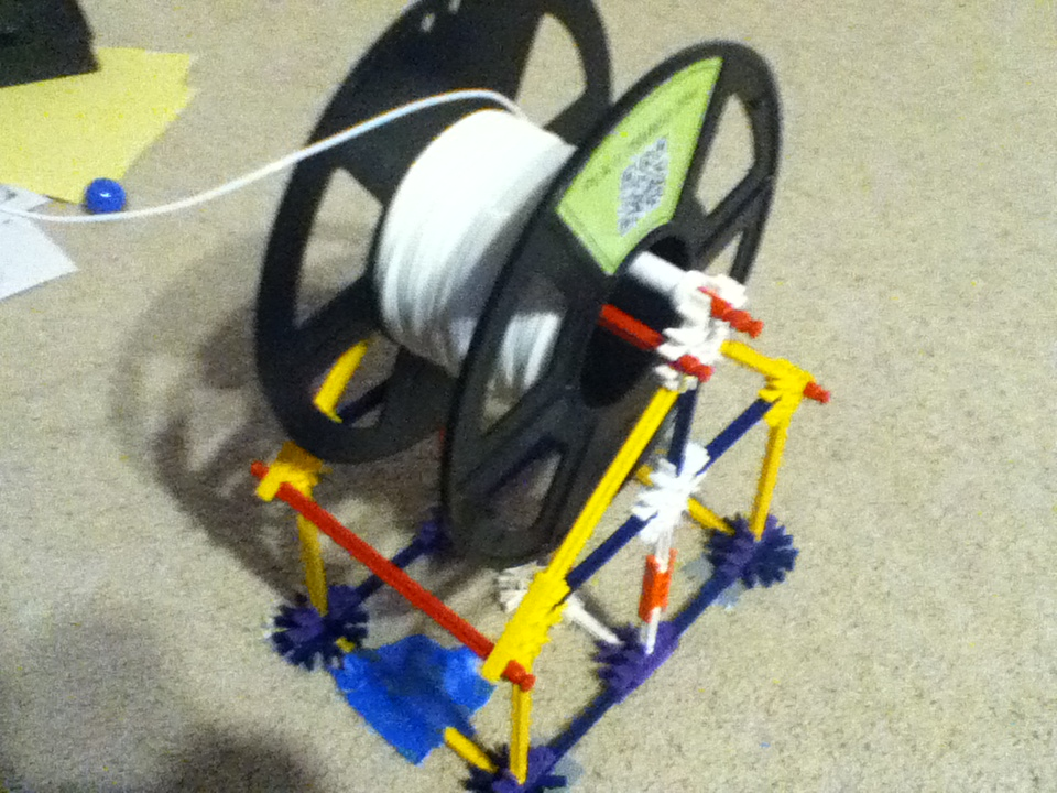 How To Make A Cheap Knex Spool Stand