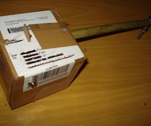 The Incredibly Simple Cardboard Box Electric Diddley Bow / Cajon