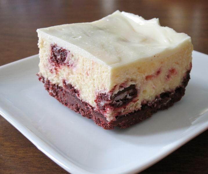 Red Velvet Oreo Cheesecake Bars
