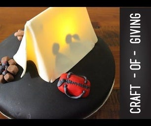 How to Make a Night Time Camping Cake | Craft of Giving