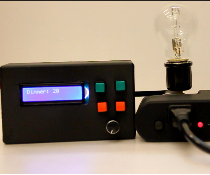 Portable Device to control AC Voltage using Arduino