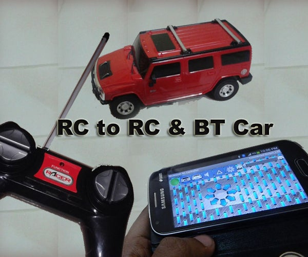 Easy Hack RC to RC & BT Car Using Linkit One