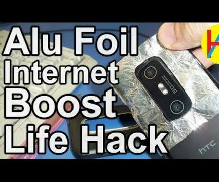 Alu Foil Boost Your Smartphone Internet Speed by 100%