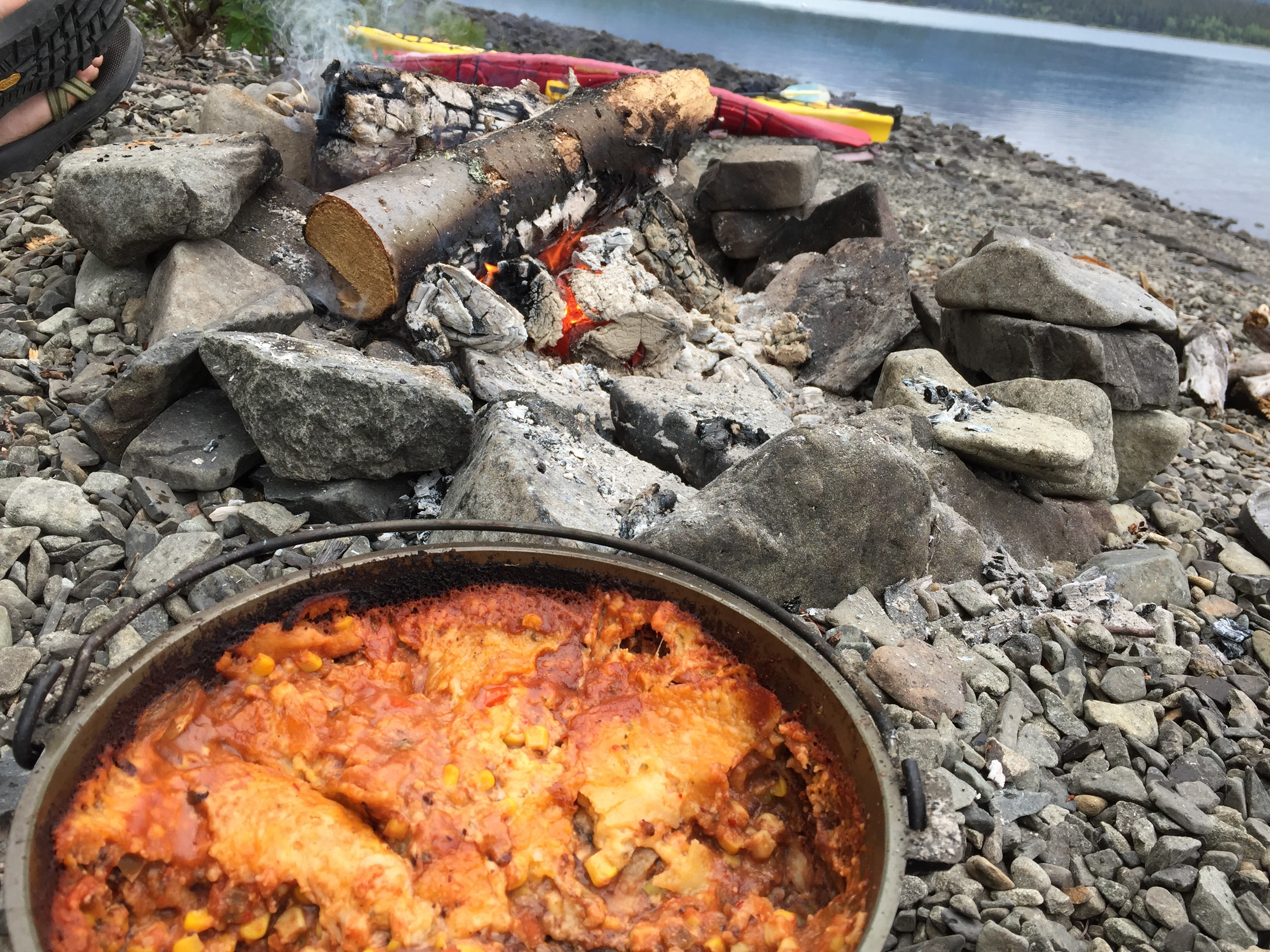 Dutch Oven Mexican Lasagna