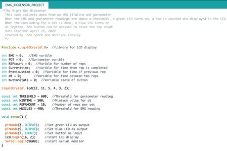 Coding Right Rep Biosensor