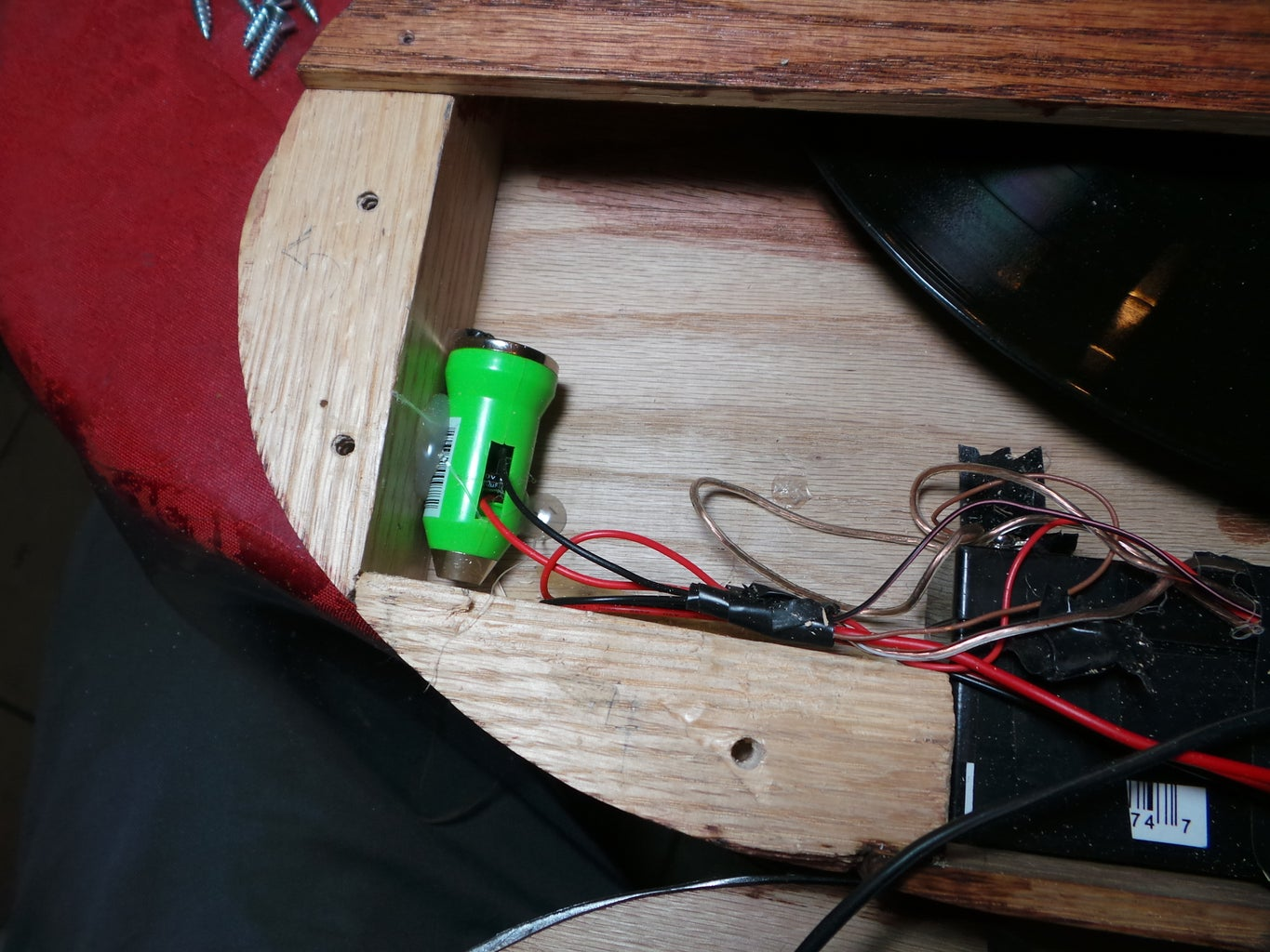 Sanding, Cutting, Wiring, and Staining