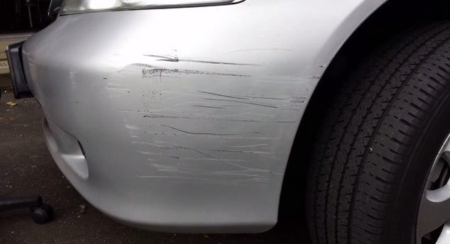 How To Repair Plastic Bumper Scratches 9 Steps Instructables