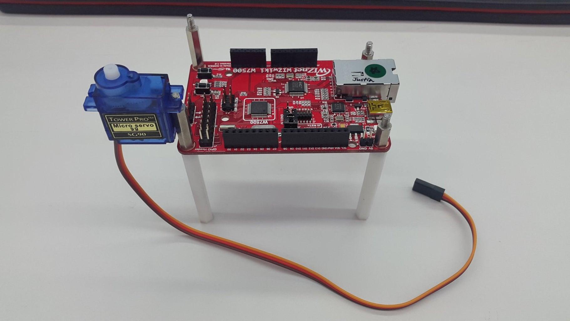 Hardware Connection:Servo+WIZwiki-W7500