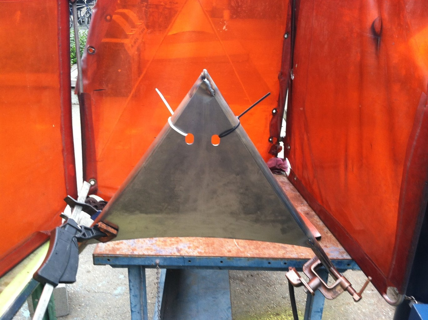 Cut & Weld the End Panel