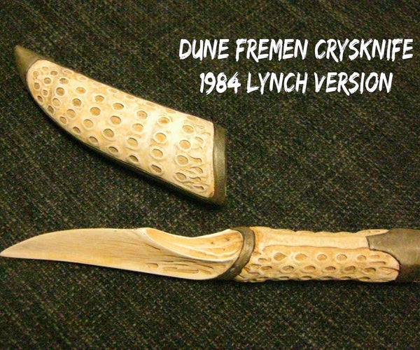 Lynch's Dune Fremen Crysknife and Sheath