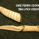Lynch's Dune Fremen Crysknife and Sheath
