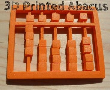 3D Printed Abacus