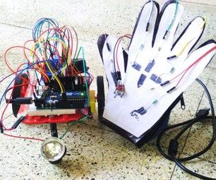 Paper,pencil,a Touchsensing Glove and an Wireless Robot!!