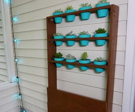 Simple Wood Succulent Stand
