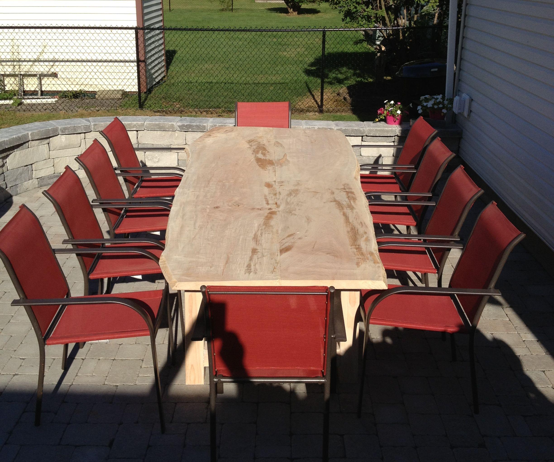 Live Edge Maple Slab Outdoor Table