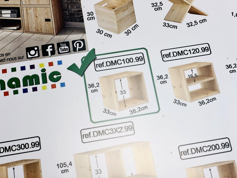 Assembling Cube Shelf