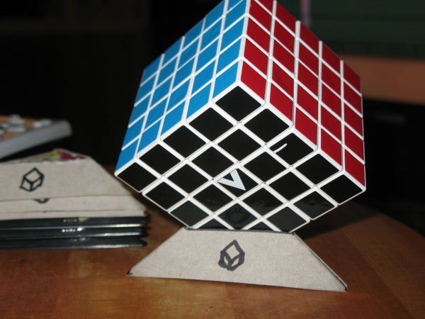 DIY Cardboard Rubik's Cube Stands