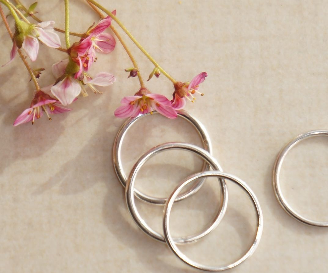 Silver Stacking Rings: Silver Bands