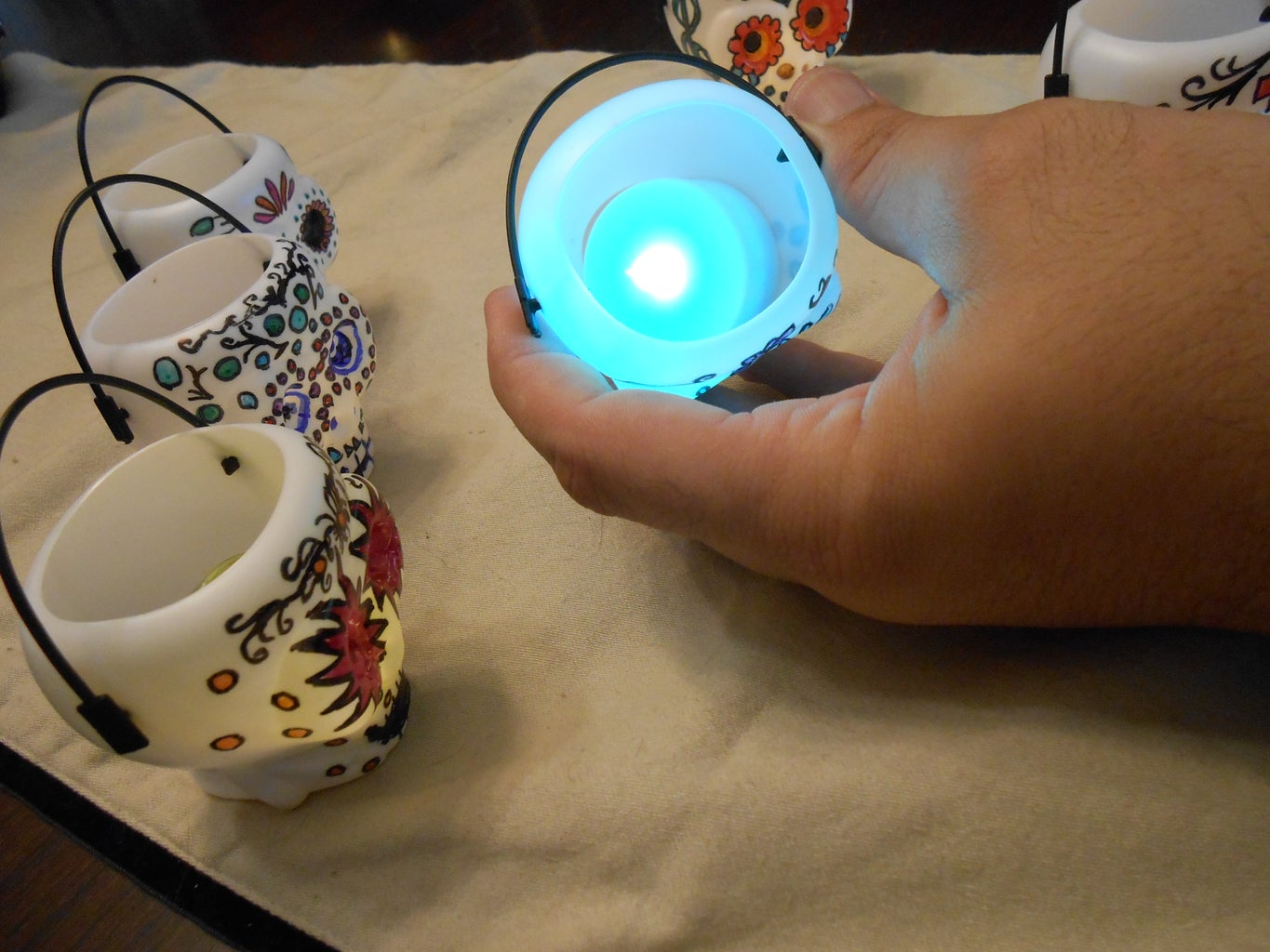 Placing the LED Tealight