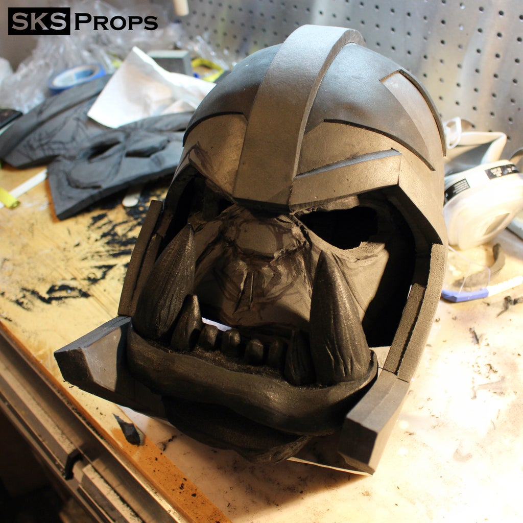Building the Helmet, Face, and Jaw