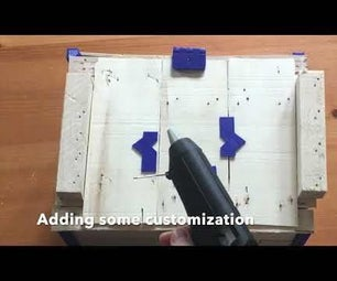 Wood Box Cover Using Hot Glue