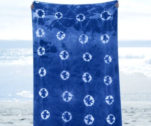 Indigo Dyed Beach Towels