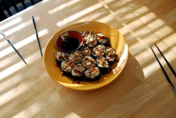 Teriyaki Chicken Brown Rice Sushi