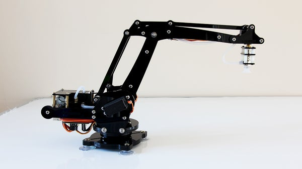 An Arduino-powered 4-axis Parallel-mechanism Robot Arm