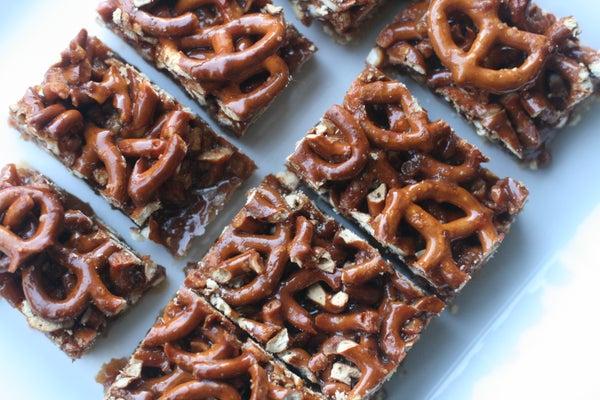 Pi Bars - (P)retzel (i)nsanity Bars (aka Pretzel Caramel Pie Bars)