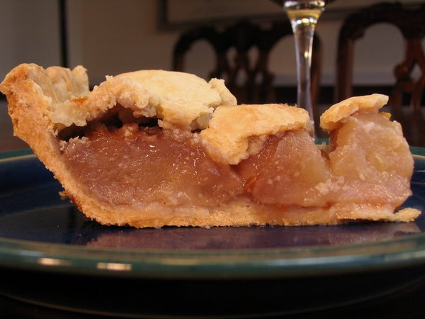 Poached Pear Pie