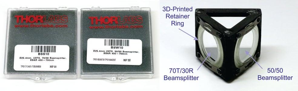 Replacing the Dichroic Beamsplitters by Wideband Beamsplitters