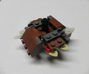 Stabilized Lego Spinning Top