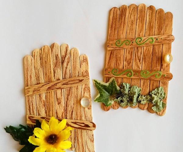 Popsicle Stick Fairy Doors