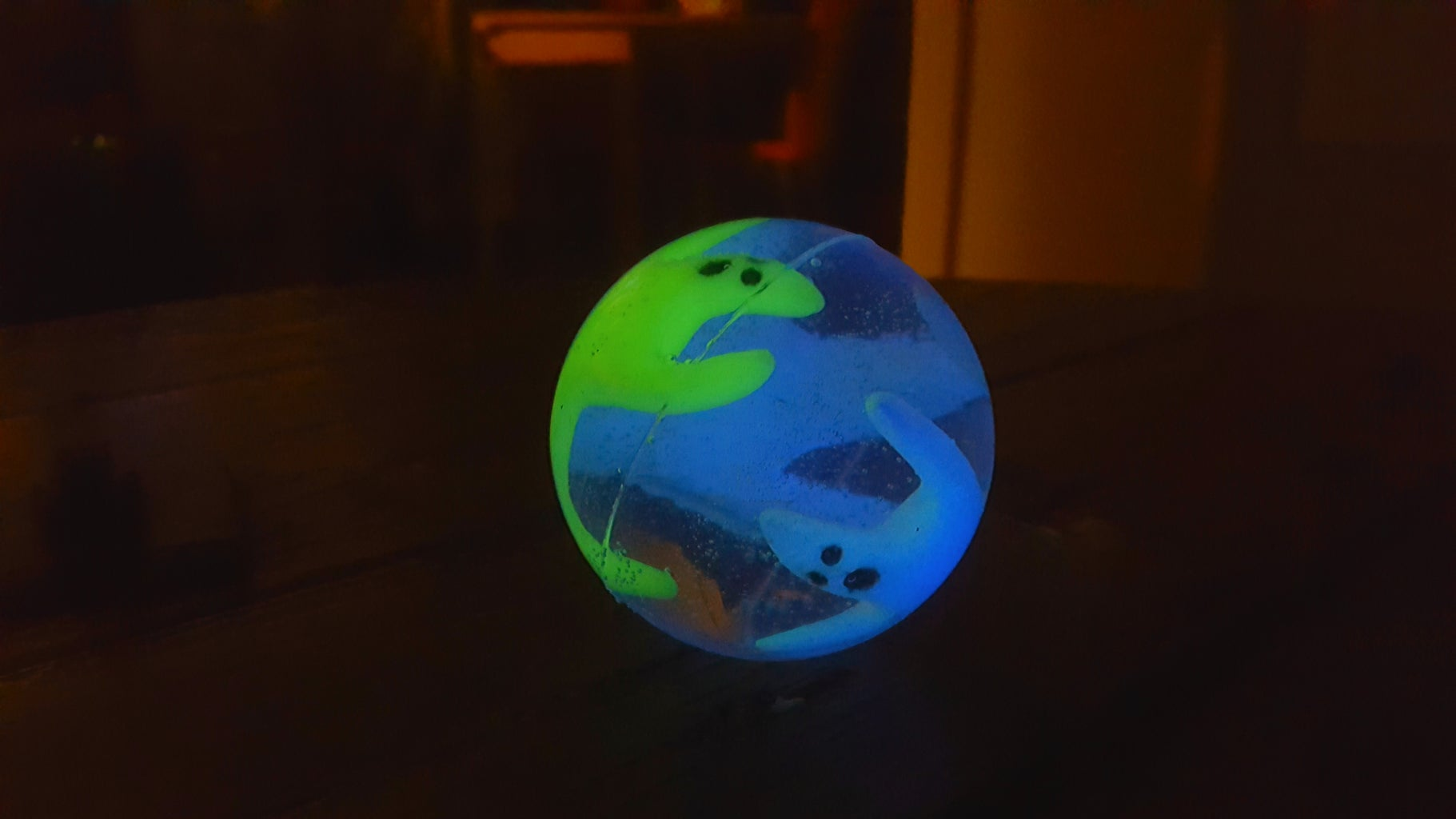 Ghosts in a Shell Bouncing Ball (Glow in the Dark)