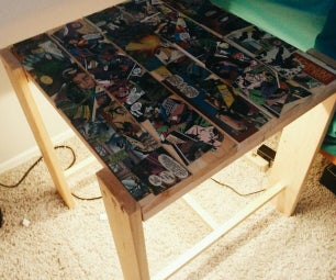 Comic Book Themed Side Table (that Lights Up!)