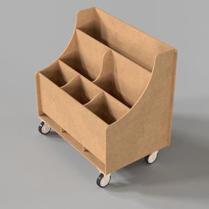 Reusable Scraps Cart