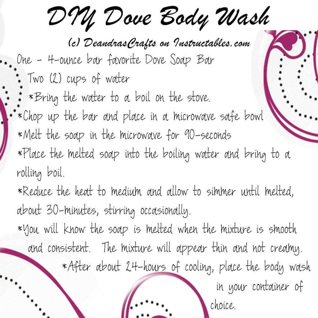The Recipe for Homemade Dove Body Wash
