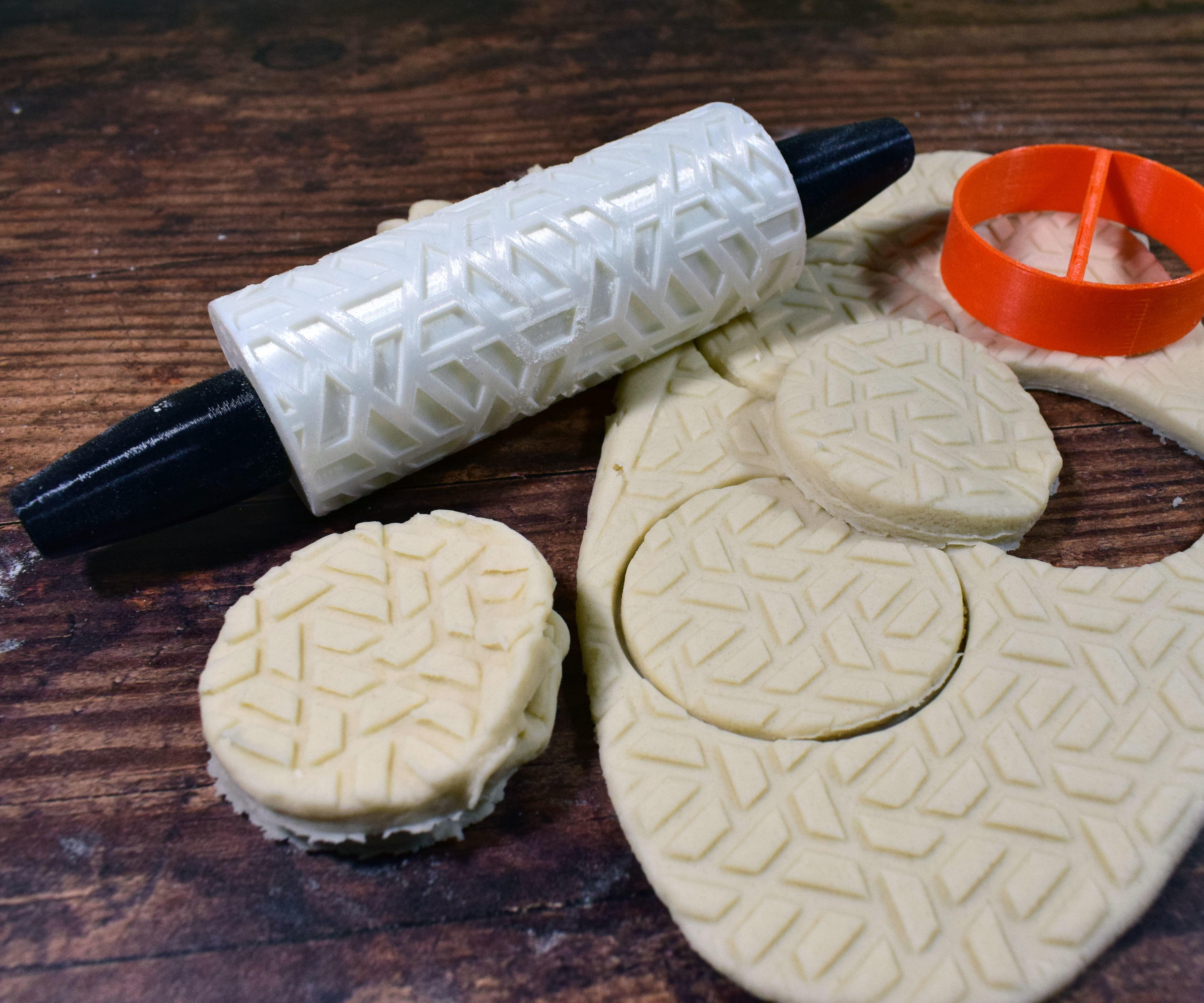 3D Print Embossed Pattern Cookie  Rollers