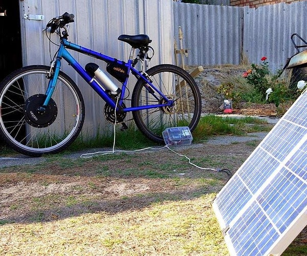Charge Electric Bike Battery With Solar Panel