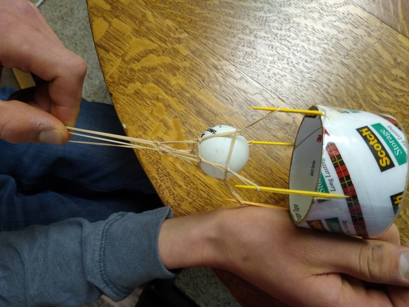 Rubber Band Ping Pong Launcher