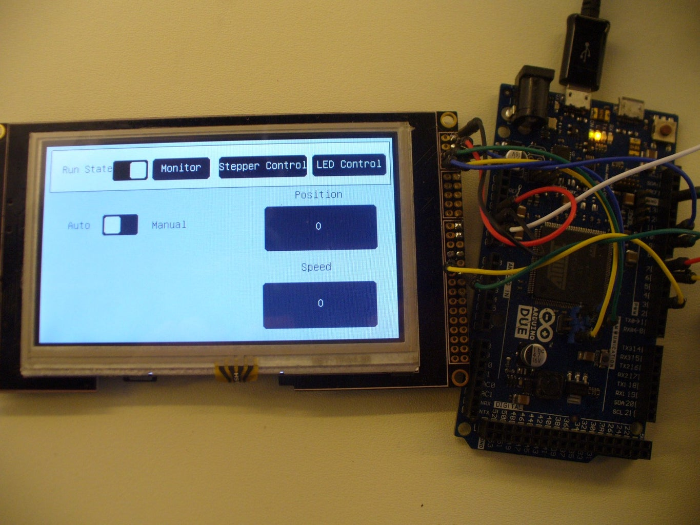 Simple LCD Touchscreen for Arduino