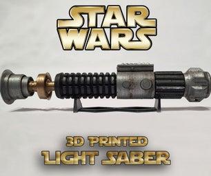 Star Wars Lightsaber 3d Printed