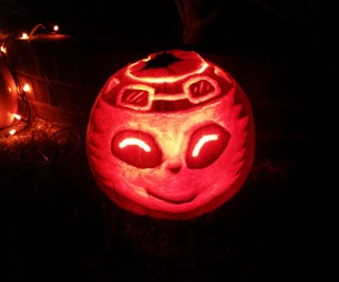 Dremel Carved Jack-o-Lantern Tips and Tricks, Featuring Teemo, the Swift Scout.