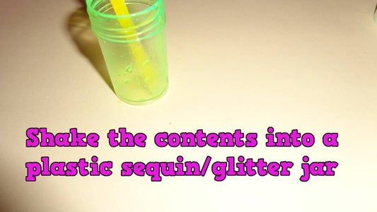 Fill Your Jar With Glowstick Mixture