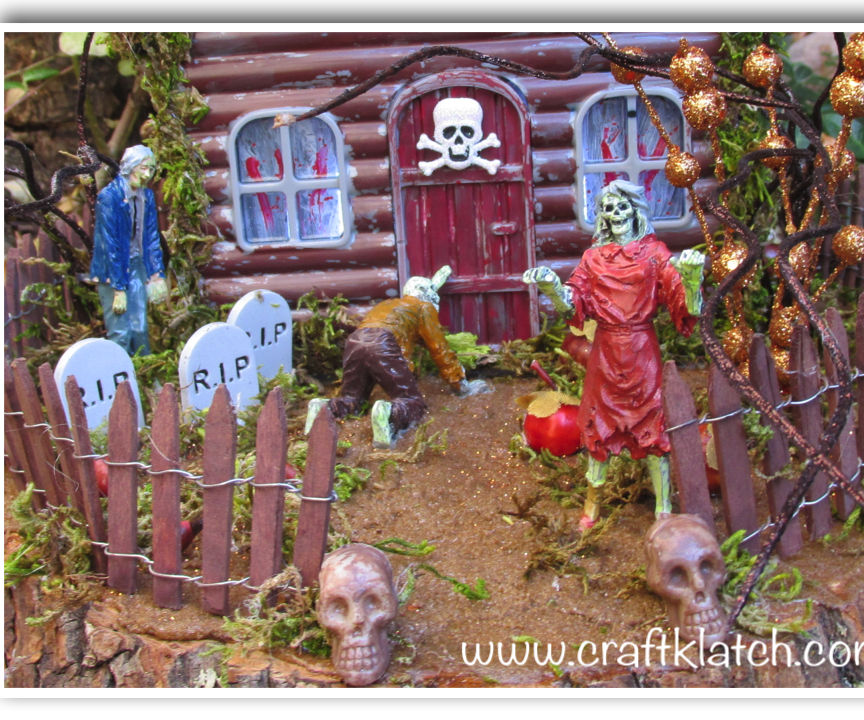 Haunted Zombie House Halloween DIY