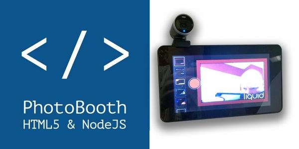 Raspberry Pi PhotoBooth: HTML5 & NodeJS