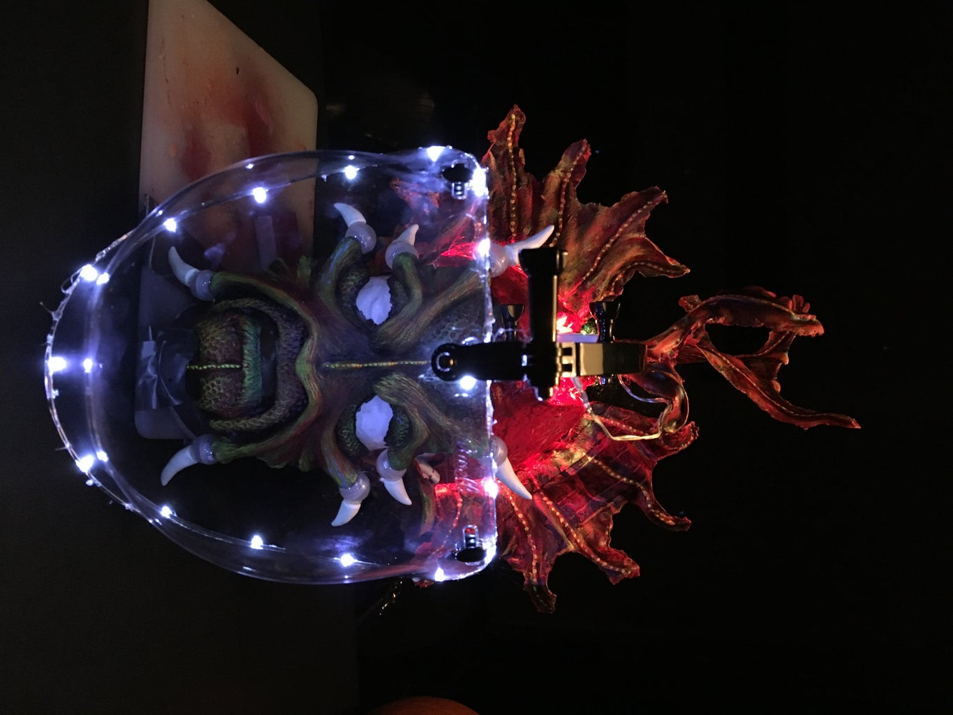 THE LED HEAD, HAIR, GAUNTLET FINS, AND PIECING TOGETHER