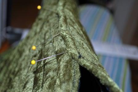 Slip Stitching the Back