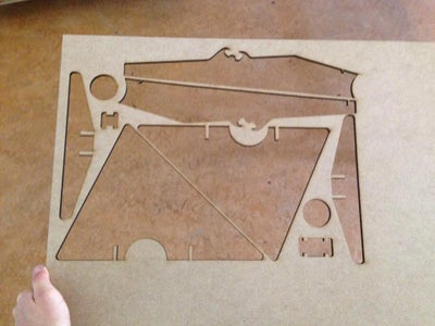Laser Cutting the Crane